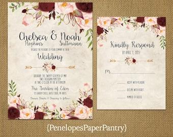 Wedding Invitation | Etsy