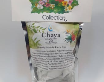 Medicinal Tea - Chaya Tea (Jatropha curcas ) 20 Servings