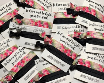 Bridesmaid Proposals  - Bridal Shower Favors - Bachelorette Hair Ties - Bachelorette Party Favors - To Have and To Hold Your Hair Back