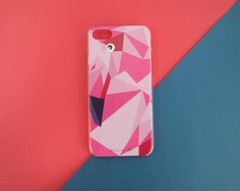 Texture Flamingo Phone Case
