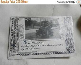 Summer Sale Antique 1909 American Travel Race Card
