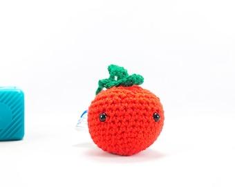 Crochet tomato decoration, crochet fruit, car accessory, auto accessory, tomato decoration, amigurumi, stuffed tomato