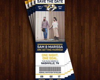 Nashville Predators Save the Date Ticket