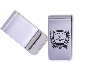 Personalized Hockey Money Clip/Laser Marked/gift for him/sports gift