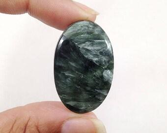 Seraphinite Cabochon 39.5Ct (35x23x5 mm) Oval Shape Beautiful Seraphinite Gemstone NS-14332