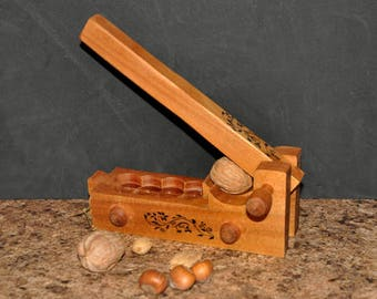 Hand made wooden nut carcker model 410