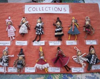 Mini cloth dolls