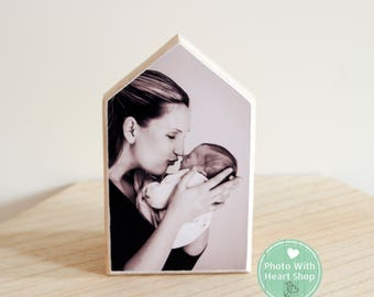 Photoblock wooden house