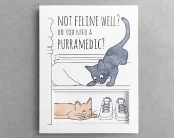 Funny get well card  Sympathy card Funny  Best friend card  Mom card  Dad card  Cat card  Sick card  Funny card  Pun card
