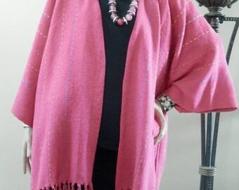 Hot pink poncho | Etsy