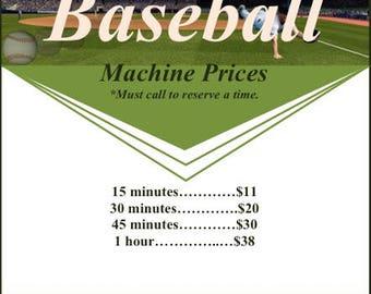 Baseball 1 hour machine