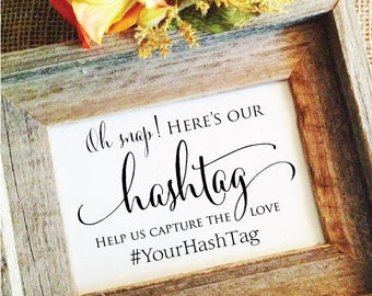 Wedding Hashtag Sign V2 Rustic Wedding Sign Rustic Wedding Decor help us capture the love rustic wedding decoration (Frame NOT included)