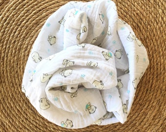 Muslin swaddle blanket - muslin blanket for baby- double gauze swaddle blanket - swaddle blanket -  baby shower gift