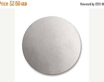 "ON SALE Alkeme 3/4"" Circle Stamping Blank, Stamp Blank, 2 count (IAD12619-24B)"
