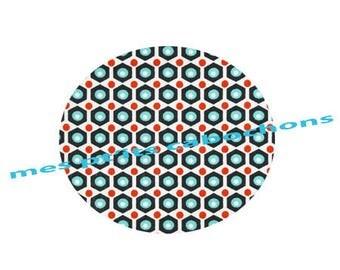 20 mm - nice Ref print glass cabochon