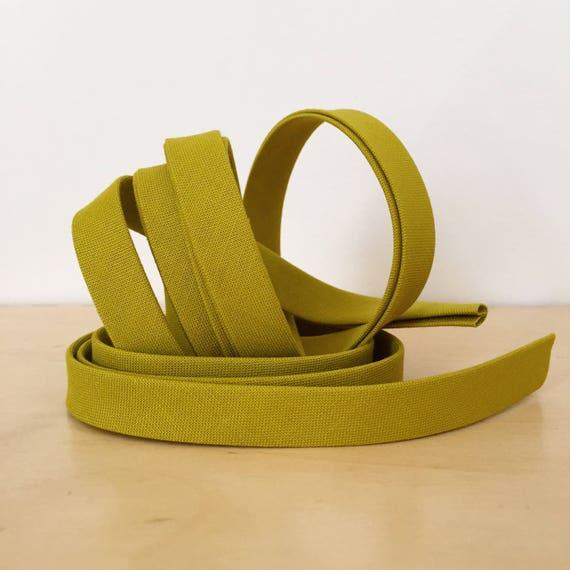 "Bias Tape in Kona Pickle cotton 1/2"" double-fold binding- Chartreuse Green- 3 yard roll"