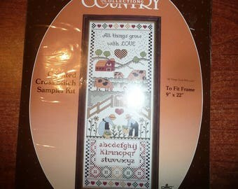 Paragon Country Collection Counted Cross Stitch All Things Grow With Love Kit
