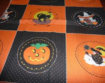 2 1/8 Yards Happy Halloween, Trick Or Treat ,Boo! Cotton Fabric