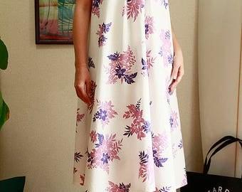 Ginger dress, white, anuhea,hawaiian fabric,HNLS02610-0740