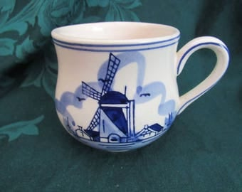 Delft Blue Windmill Coffee Cup
