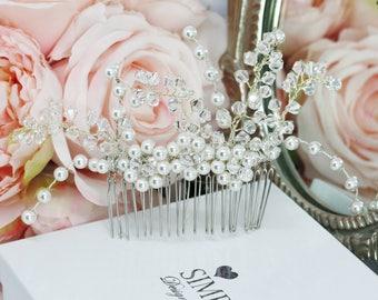 Bridal hair comb, wedding hair accessories, decorative comb, sparking hair comb, bridal headpiece, hair adornment, pearl hair comb, comb