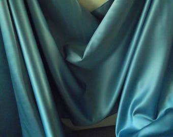Pale Turquoise Blue Delustred Duchess Satin Fabric