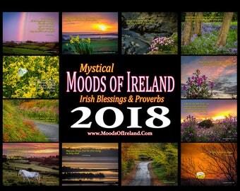 Irish Blessing, 2018 wall planner, 2018 Calendar, Ireland Blessing, Nature Calendar, Landscape Calendar,Inspirational Calendar,Wall Calendar