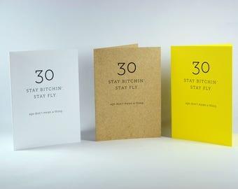 30 birthday card - 30 birthday card for her - 30 birthday card for him  - funny card - birthday card - you're old card -old birthday card
