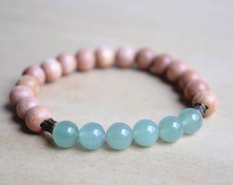 Boho Green Bracelet / boho bracelet ideas, everyday bracelets, energy bracelet, chakra bracelet, meditation bracelet, green aventurine