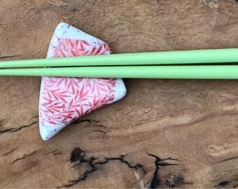 Porclean chopstick rests.