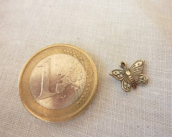 Silver Butterfly charm reference a11