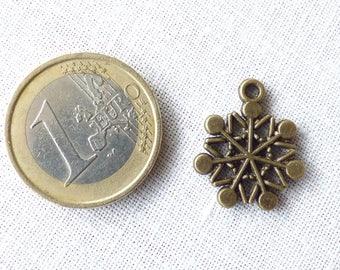 300049 bronze snowflake CHARM