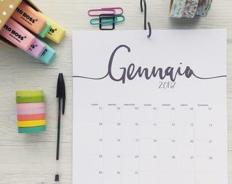 Calendar 2018-Format A4 (21 x 29.7 cm)-eng