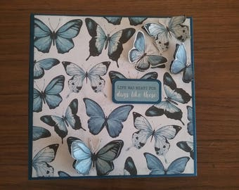 "Butterfly Blue  8"" x 8"" Mini Album"