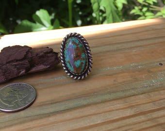 Boulder turquoise ring/8