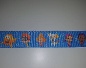 bubble guppies 25mm the meter Ribbon