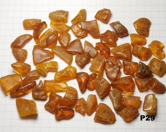 P29 / lot 20g amber beads natural honey color