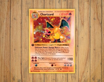 Charizard Trading Card Game [Original] Pokemon Decal/Sticker