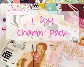 I Spy Novelty Charm Pack, Mystery Scrap Pack, Quilting Cotton, Scrap Bundle