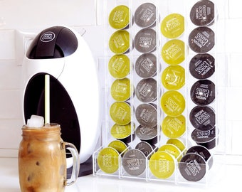 Dolce Gusto Coffee Pod Holder, Clear Coffee Capsule Storage, Kitchen Organizer, Decor Gift, Counter Storage, Kitchen Accessory, Coffee Rack