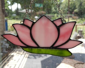 Lotus Flower Stained Glass Suncatchers
