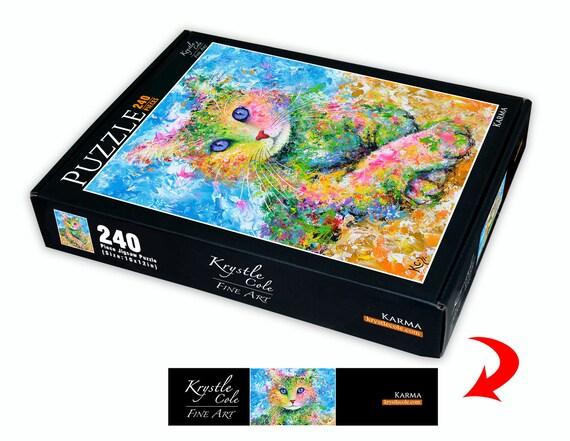 Cat Puzzle - Cat Lover Gift, Cat Jigsaw Puzzle, Jigsaw Puzzles, Fun Puzzle Gifts, Fine Art Puzzle, Krystle Cole Puzzle, 240 Piece Puzzle.
