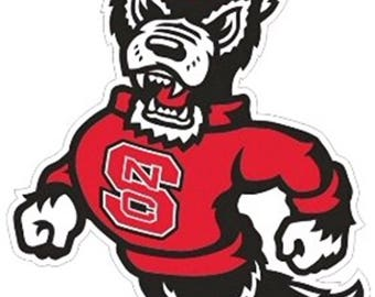 NC State Wolfpack XL Premium Die-Cut Vinyl Decal / Sticker