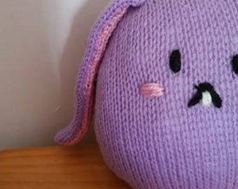Knitted Doll - Chubby Purple Bunny - READY TO SHIP