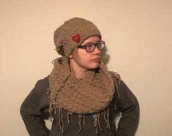 Rustic Slouch and Infinity Scarf Set