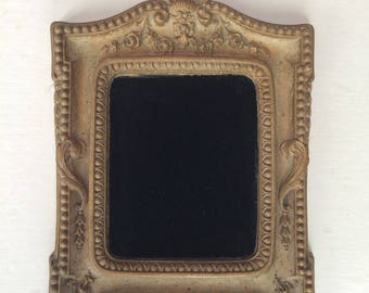 Gold Plastic Composite Ornate Carved Picture Frame - Wood Look - No Glass