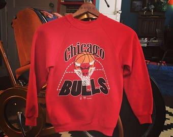 Vintage Chicago Bulls Youth Medium Sweatshirt