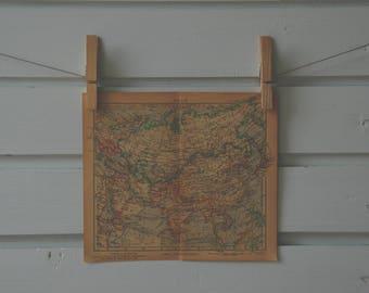 1943 Vintage Asia Map