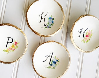Ring Dish Personalized Bridesmaids Gift, Wedding Gift Personalized, Jewelry Dish, Custom Ring Dish, Catch All, Initial Jewelry Dish
