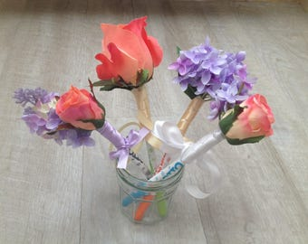 4 flowers decoration holiday wedding pen